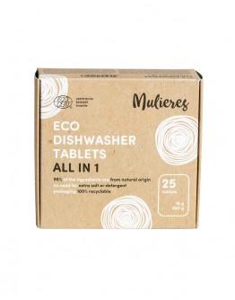 Tablete ecologice pentru masina de spalat vase 25 buc, Mulieres