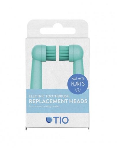 Capete pentru periuta electrica Oral-B (Verde - Gri), Tio